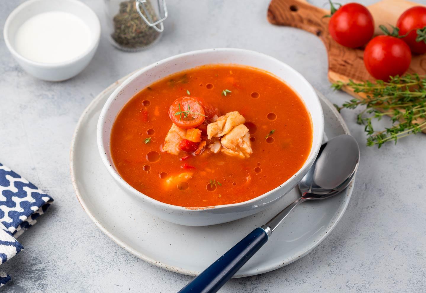 Средиземноморский томатный суп