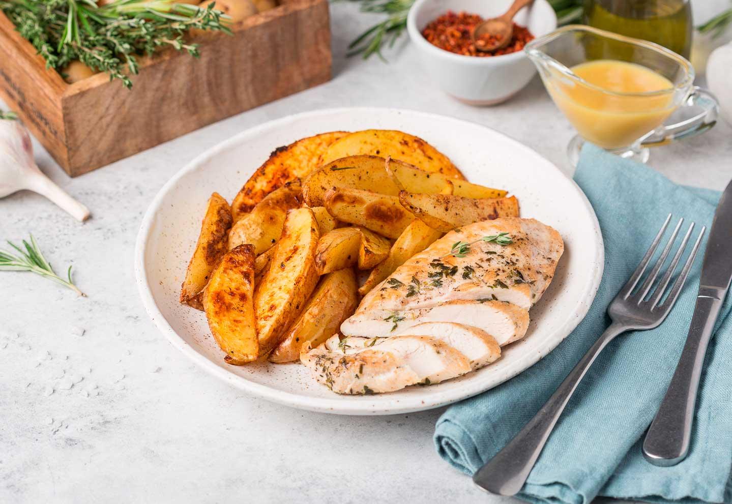 Курица с картофельными