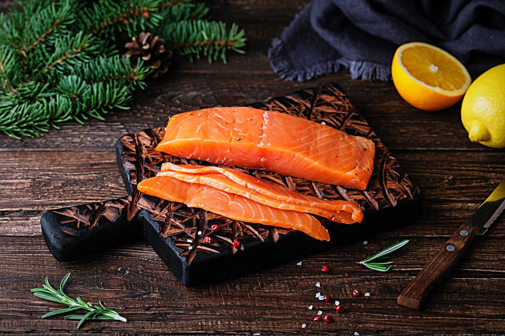 Соленый лосось своими руками, 500 гр