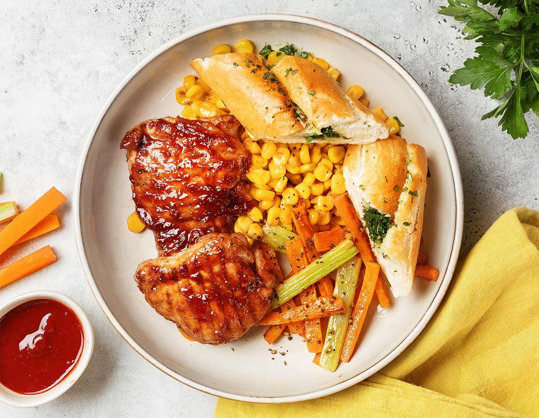 Курица в брусничном BBQ