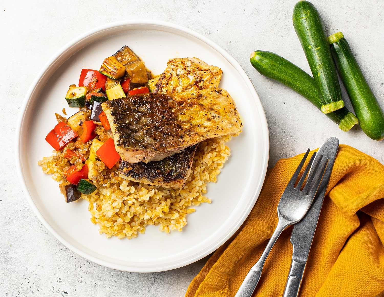 Сицилийская рыба с овощами