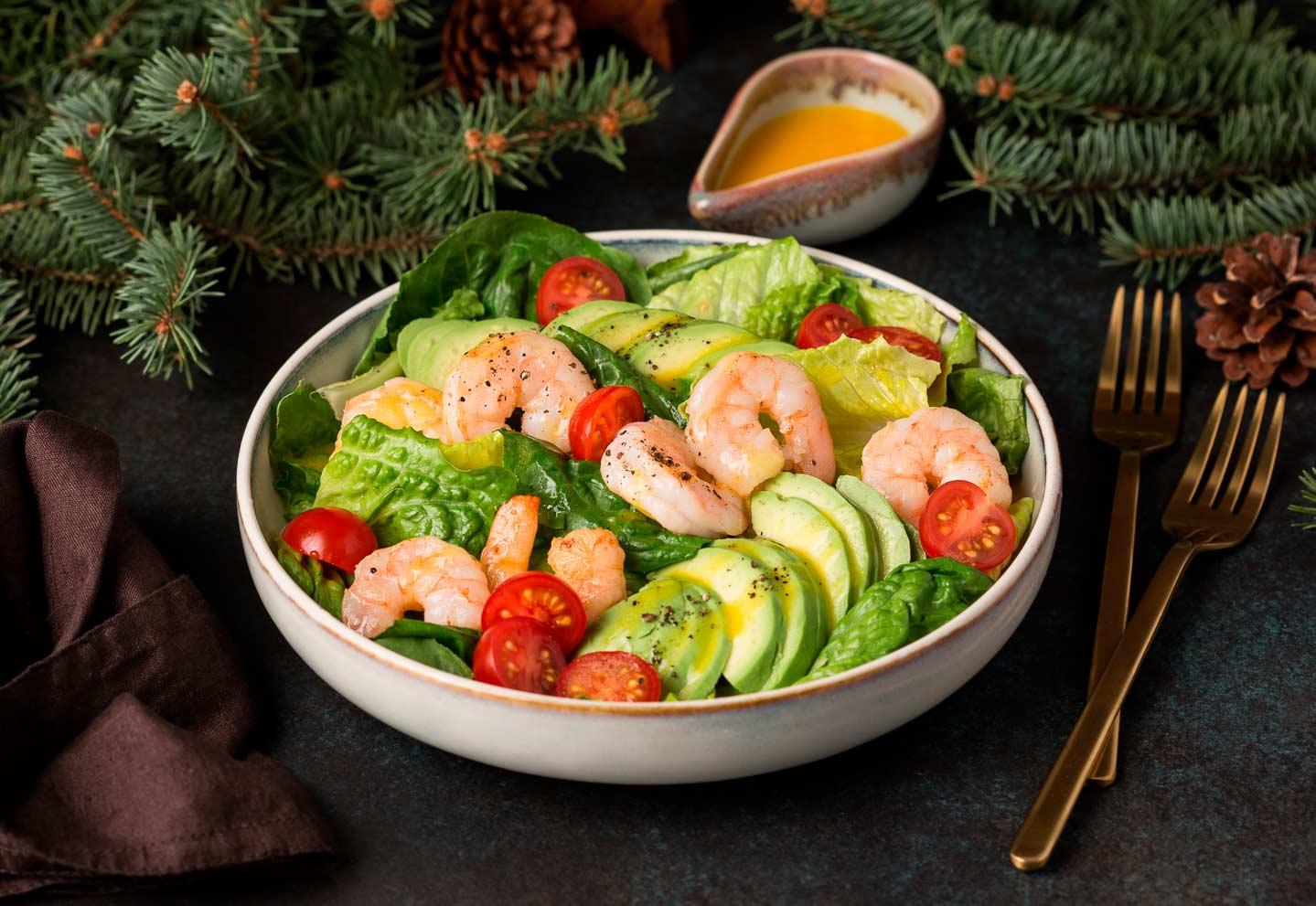 Королевский салат с креветками, 0.6 кг