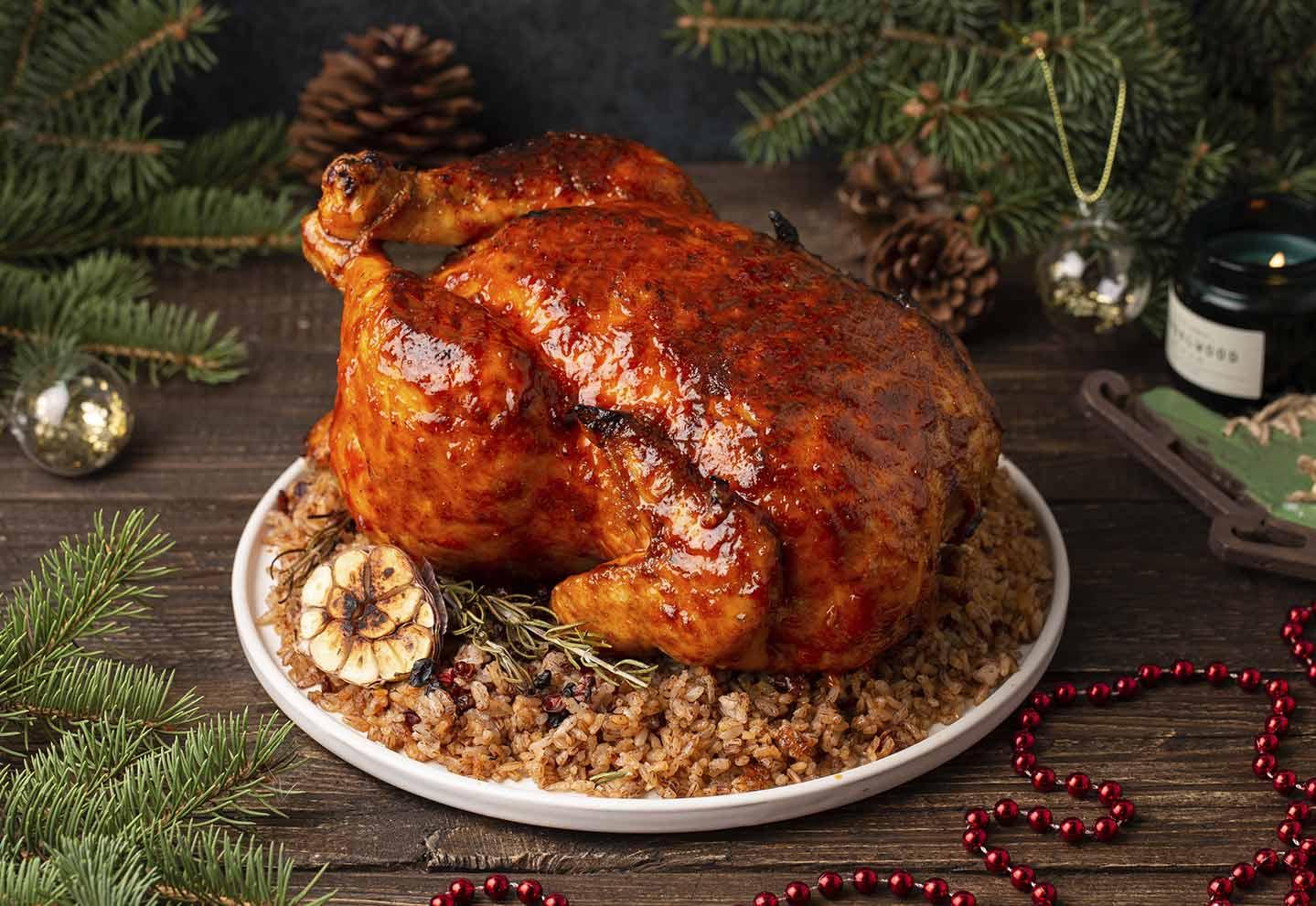 Фаршированный цыпленок по-купечески с рисом, 2.5 кг на 4-8 порций
